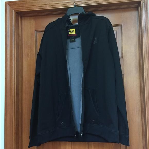 Cat Black Zipup Fleece Jacket
